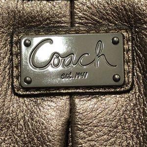 Coach Bags - Coach Kristin Pleated Gunmetal Metallic Satchel